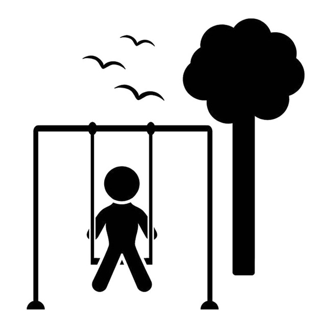 Tree With Swing Silhouette