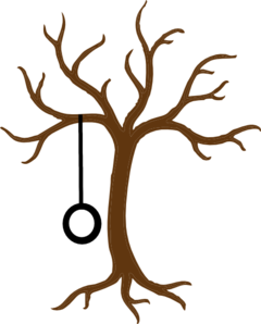 240x298 Bare Tree With Tire Swing Clip Art