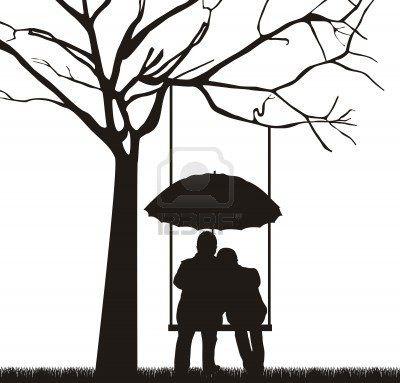 400x383 Tree Swing Couple Silhouette Inspire Me ) Couple