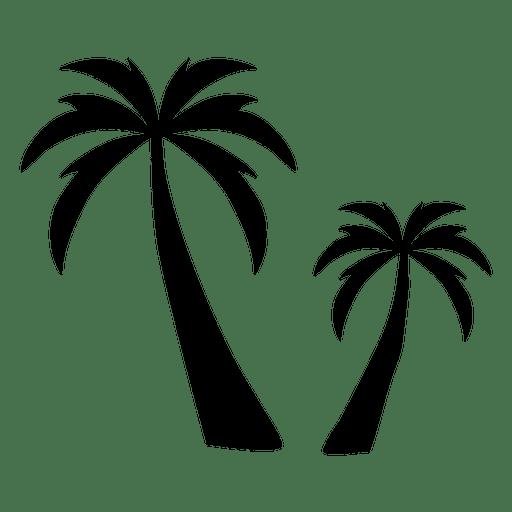 512x512 Two Palm Tree Silhouette Palm