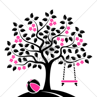 325x325 Flowering Tree With Swing Gl Stock Images