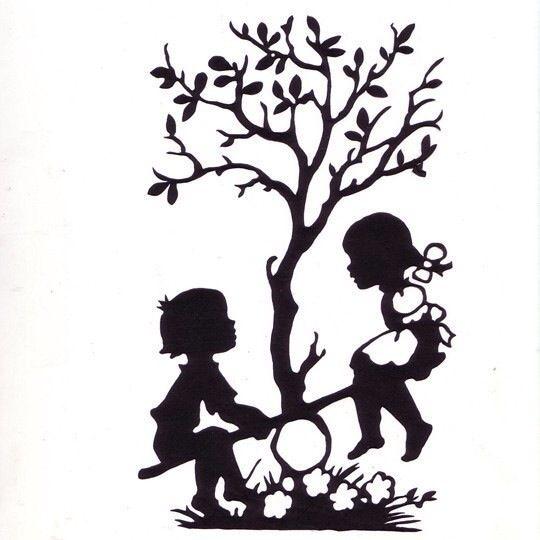 540x540 Papercut Silhouette Treekids Scherenschnitte
