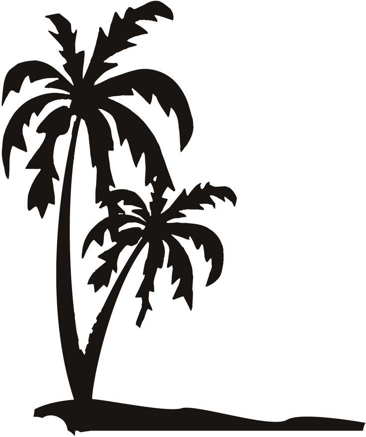 736x877 Palm Tree Silhouette