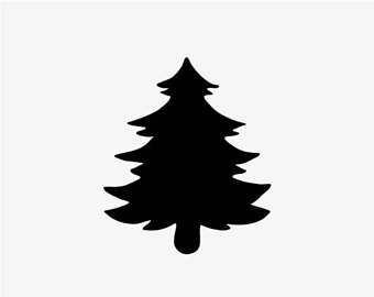 340x270 Pine Tree Silhouette Clip Cliparts Accent Wall Mural, Pine Tree