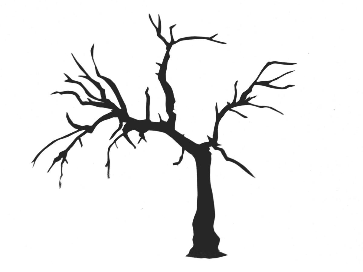 1200x900 Simple Tree Stencil