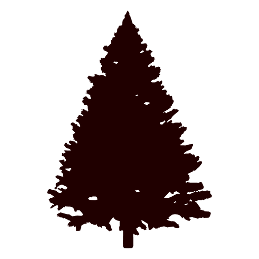 512x512 Spruce Tree Silhouette