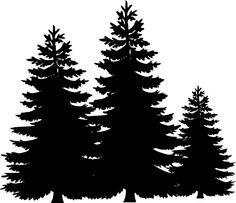 236x203 Tree Silhouettes Clip Art