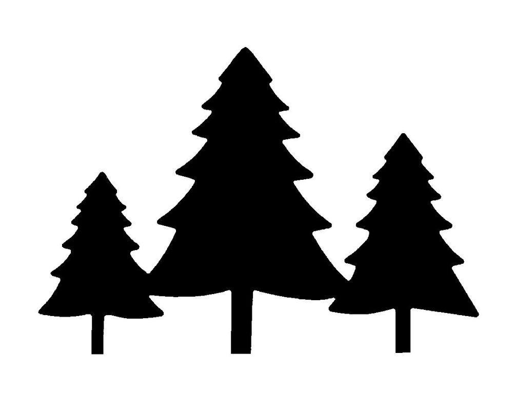 1000x773 Pine Trees Silhouette Free Download Clip Art Free Clip Art