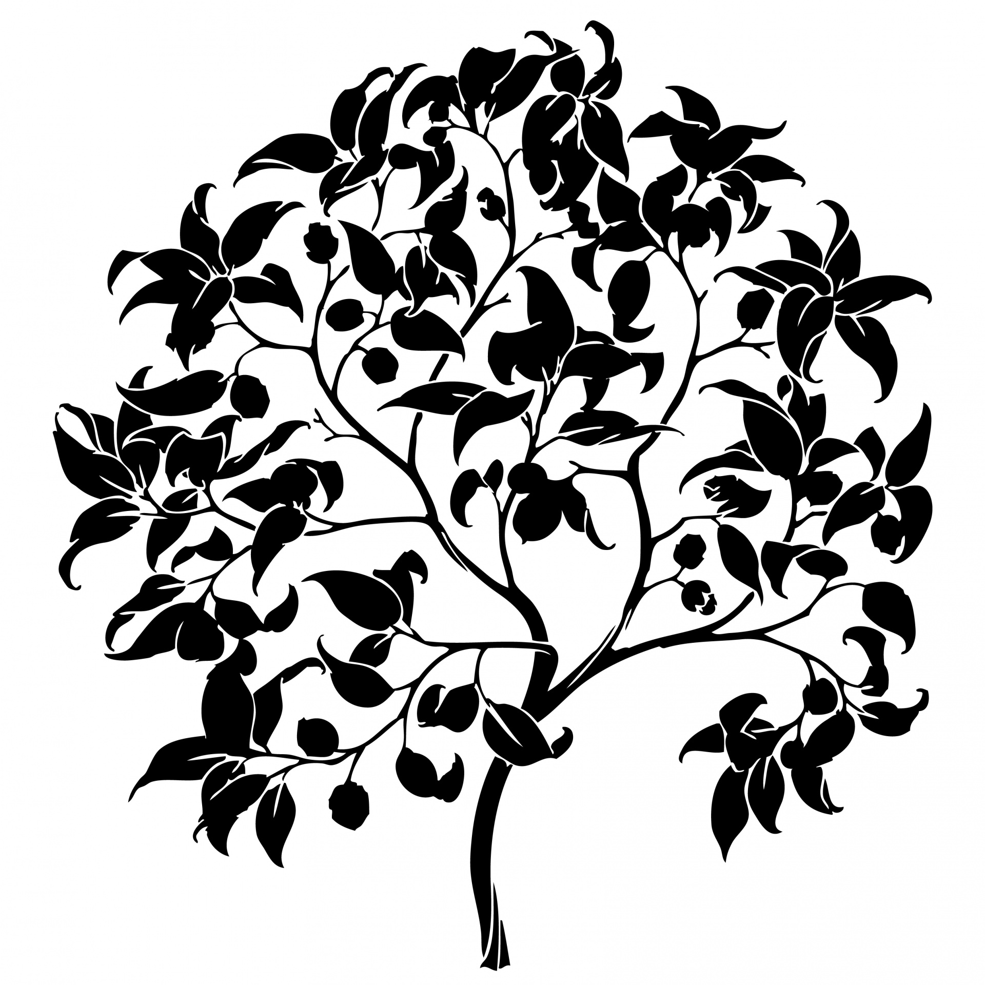 1920x1920 Tree Silhouette Clipart Free Stock Photo