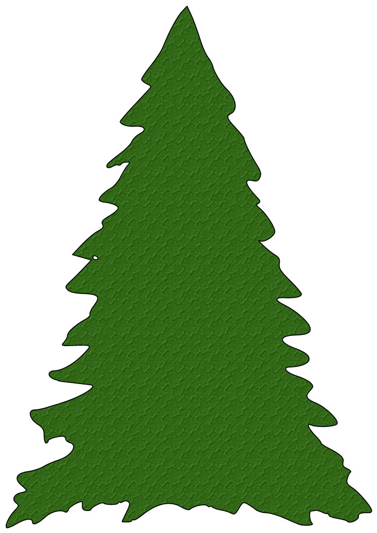 775x1095 Green Christmas Tree Silhouette Clipart