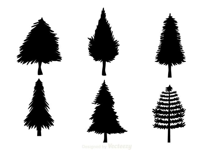 700x490 Black Christmas Tree Silhouettes