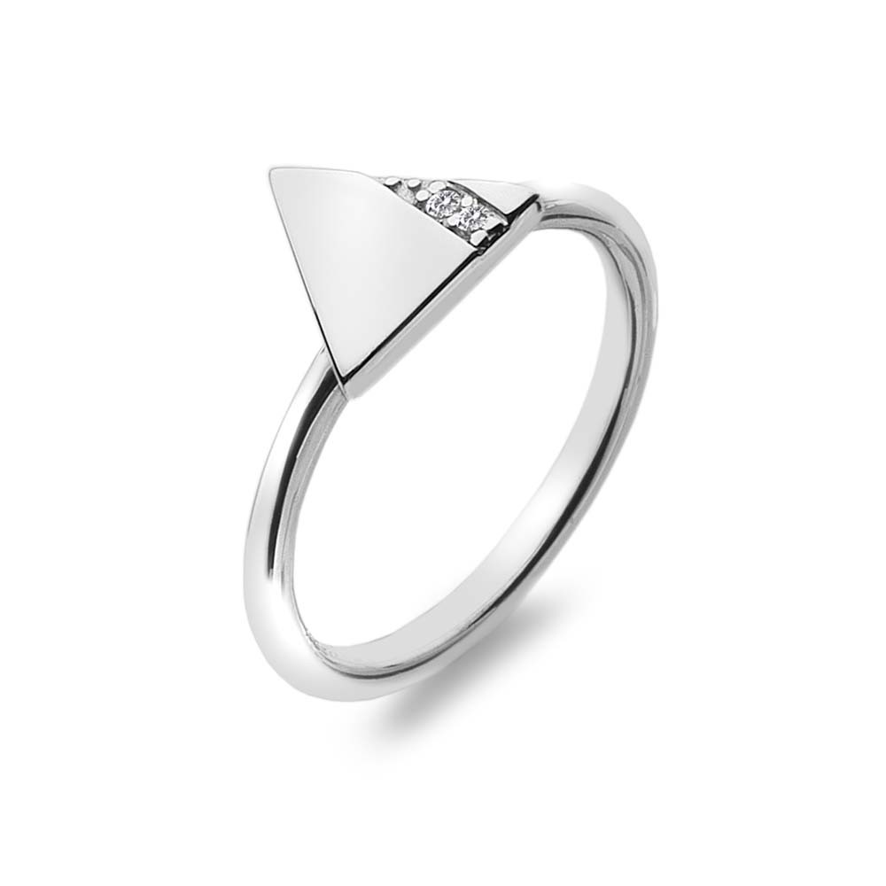carat beautiful rings triangle ring engagement triangular trillion diamond solid kmzomdj