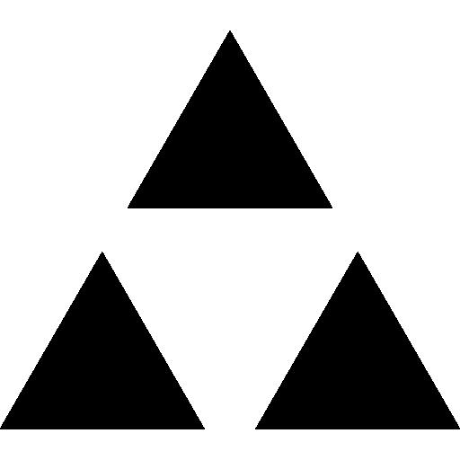 512x512 Triangular, Triangle, Crown, Triangular Tip, Crown Silhouette