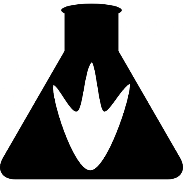 626x626 Triangular Flask With Animal Paw Silhouette Icons Free Download
