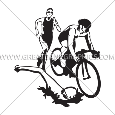 385x385 Triathlon Collage Production Ready Artwork For T Shirt Printing