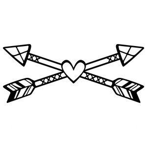 300x300 Silhouette Design Store Tribal Love Arrows Sophie Gallo Design