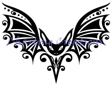 450x348 Tribal Bat Silhouette (Charting Creations) Finishes