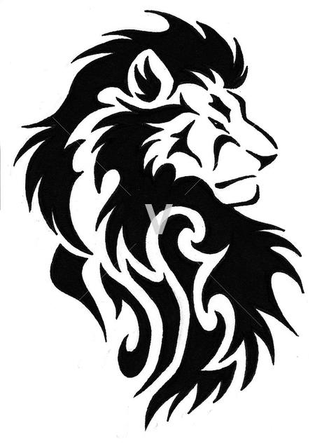 450x633 15 Tribal Lion Vector Art Images