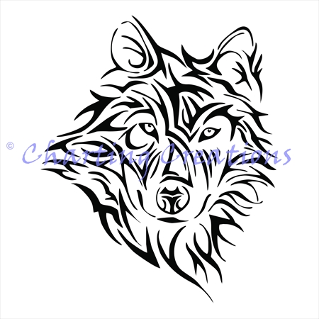 450x450 Tribal Wolf Silhouette (Chartimg Creations) Charting Creations