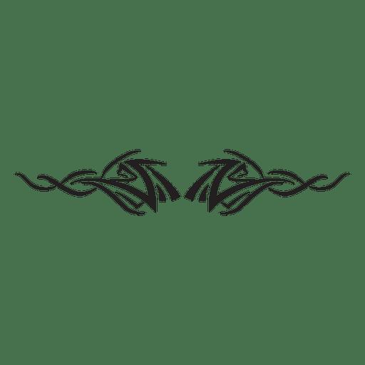 512x512 Tribal Pinstripes Silhouette