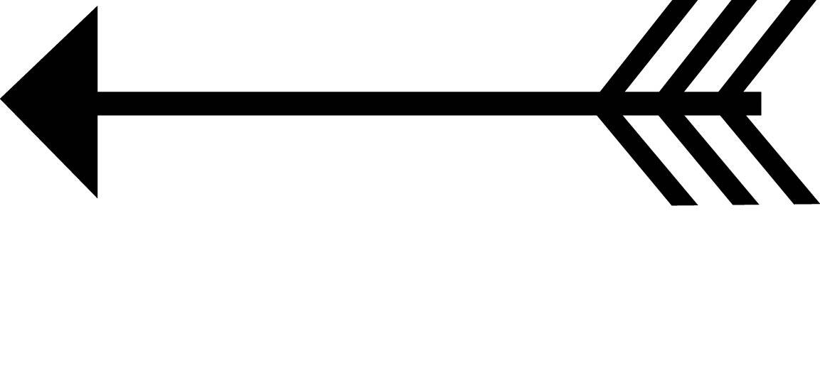 1153x549 Arrow Silhouette Clipart