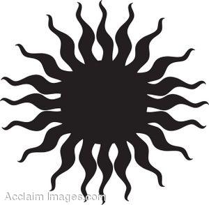 300x294 Clip Art Picture Of A Tribal Sun Silhouette