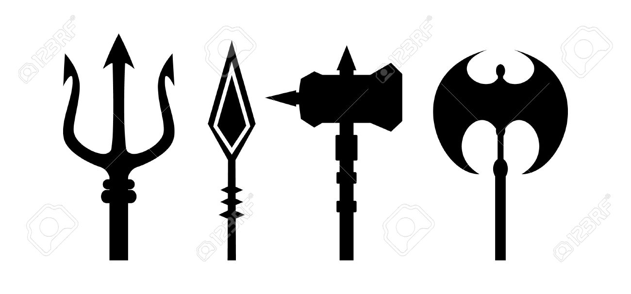1300x606 Spear Clipart Trident'35598