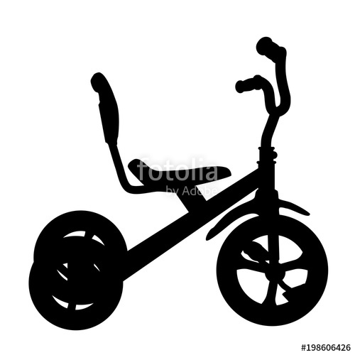 500x500 Simple Silhouette Of Tricycle Stock Photo And Royalty Free Images