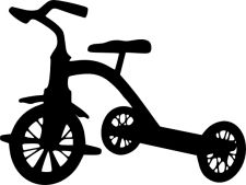 225x169 Tricycle Freezer Paper Stencil Ideas Freezer Paper