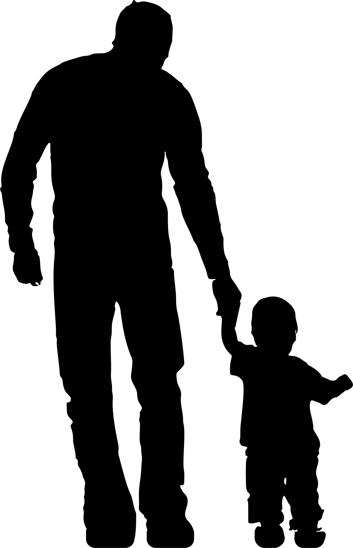 1466x2274 Father And Toddler Silhouette Icons Png