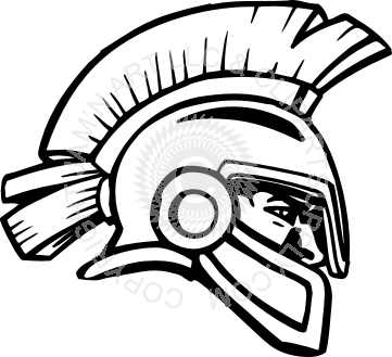361x329 Trojan Head Clip Art