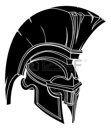 382x450 Warrior Clipart Trojan Head
