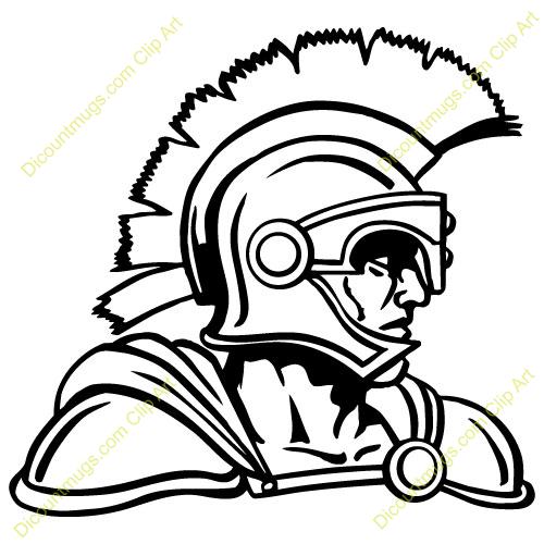 500x500 Warrior Clipart Trojan Head