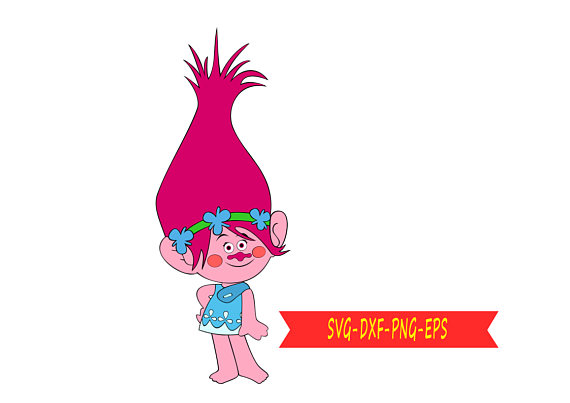 570x403 Troll Poppy Svg Clip Art, Download Svg, Eps, Dxf, Png Digital
