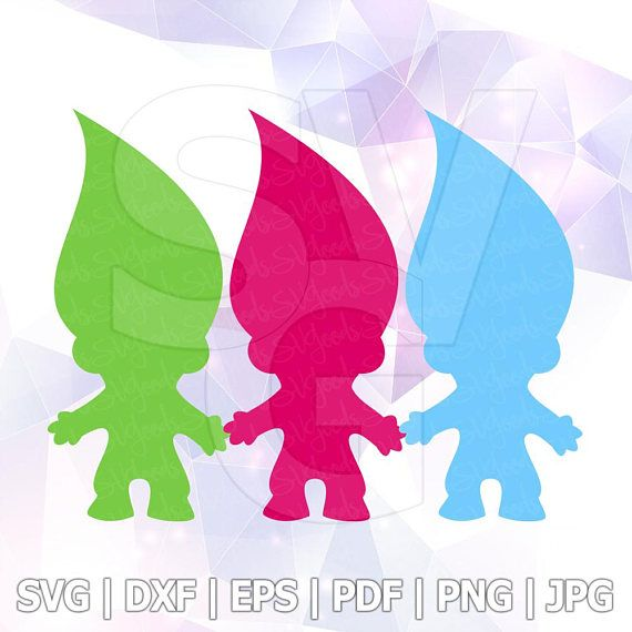 570x570 SVG DXF PNG Poppy Trolls Hair ClipArt Cut File Cricut Silhouette