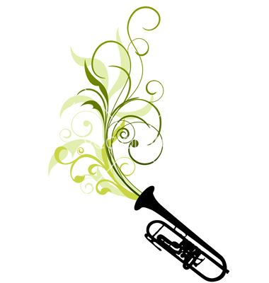 380x400 Trombone Tattoo Designs Related To Trombone Silhouette Clip Art