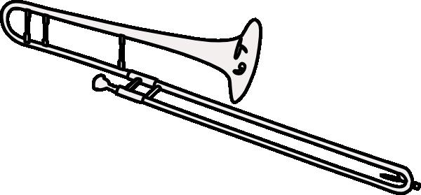 600x279 Trombone Clip Art