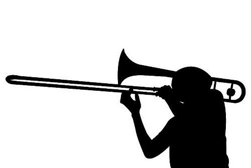 500x335 Trombone Silhouette By Rachel Hopkins Rachel Hopkins