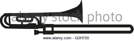 450x140 Trombone Silhouette Stock Vector Art Amp Illustration, Vector Image