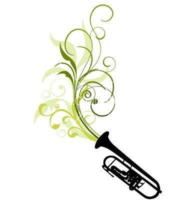 380x400 Trombone Tattoo Designs Related To Trombone Silhouette Clip Art