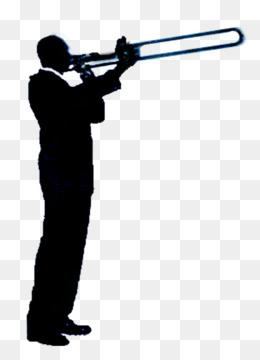 260x360 Free Download Silhouette Trombone Jazz Trumpet Clip Art