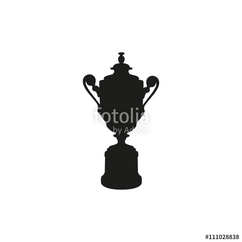 500x500 Black Cup Isolated On White Background. Flat Vector Design Element