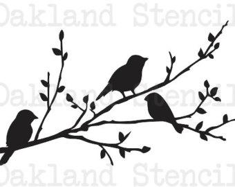 340x270 Bird Stencils Etsy