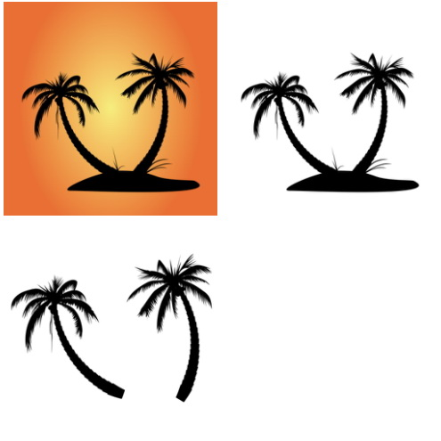 495x495 Palm Tree Silhouette Clipart