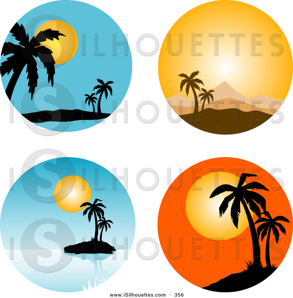 1024x1044 Royalty Free Tropical Island Stock Silhouette Designs