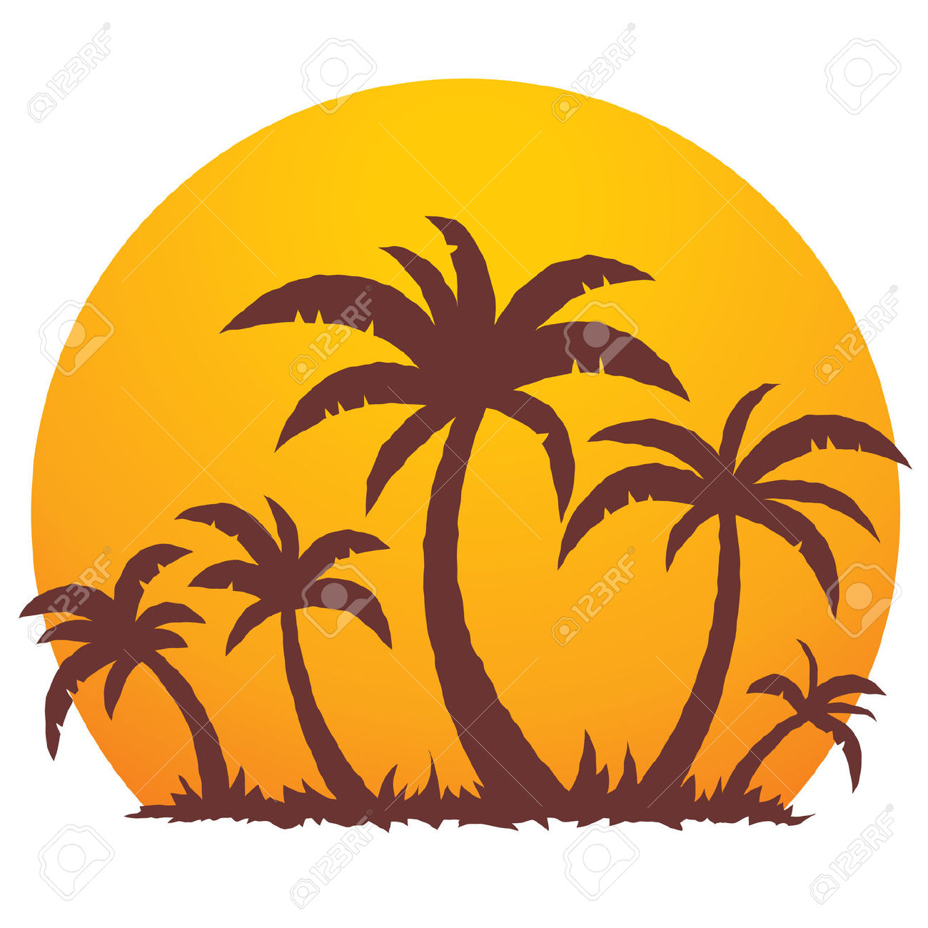 1300x1300 Vacation Clipart Tropical Tree