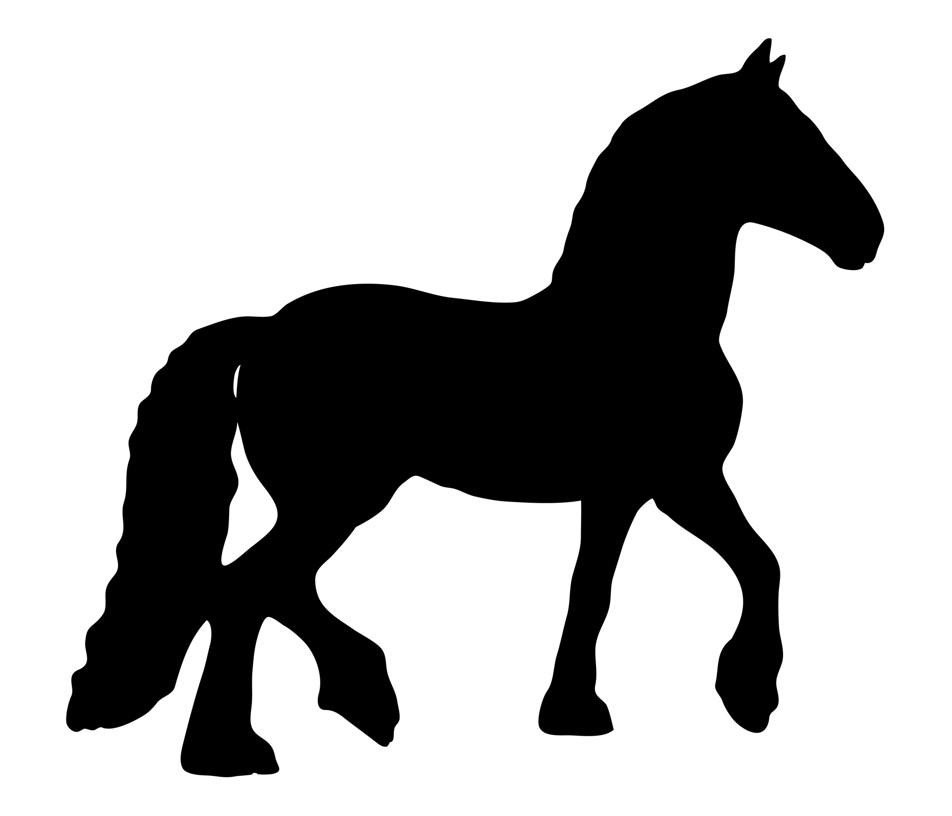 Trotting Horse Silhouette