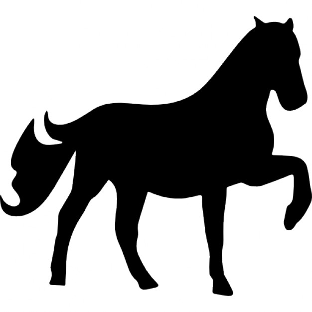626x626 Horse Raising One Foot Silhouette Icons Free Download