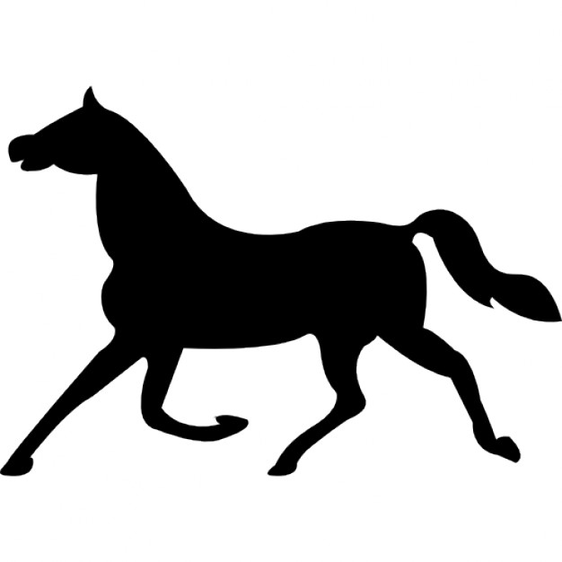 626x626 Horse Trot Black Side Silhouette Icons Free Download