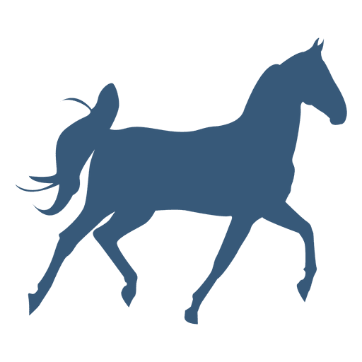 512x512 Horse Trotting Silhouette